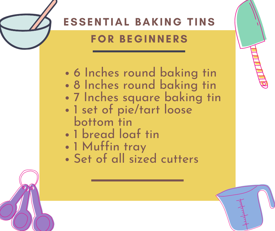 Essential Baking Tins for beginners