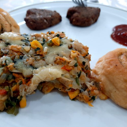 Eggless Vegetable Strata