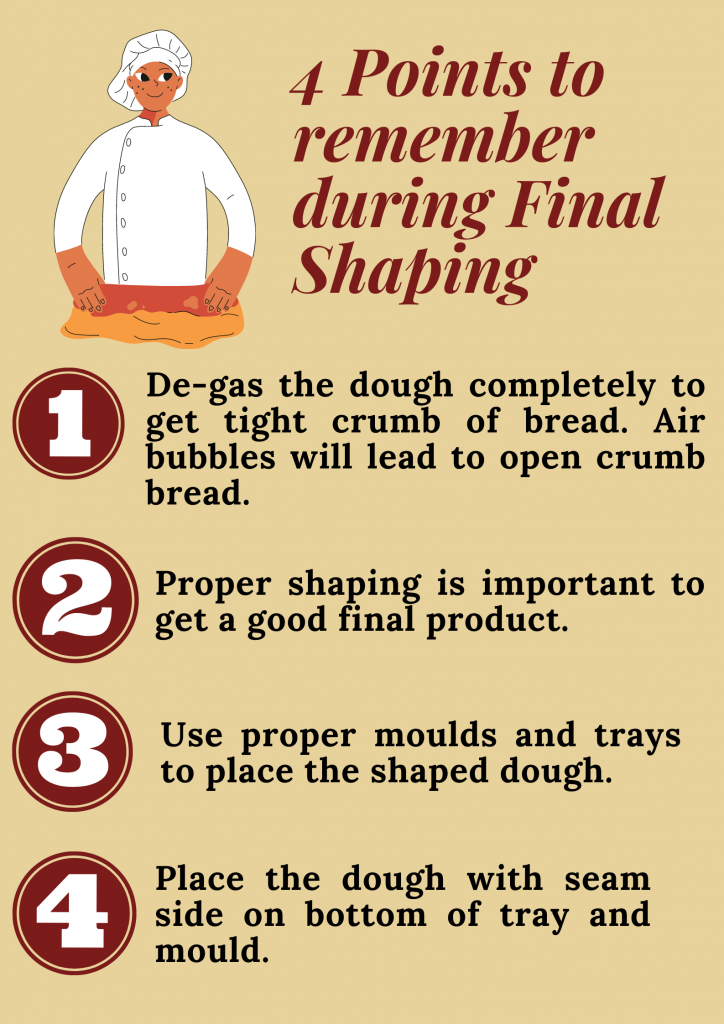 Guidelines when making bread