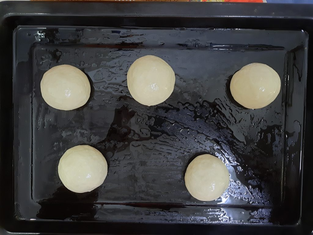 Ninth step in making bread