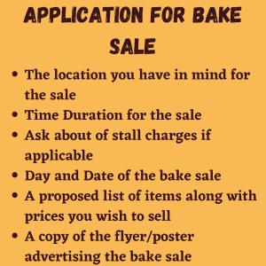 Bake Sale Application