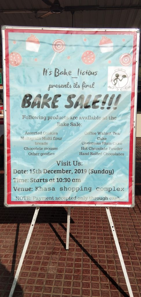 Advertisement poster for bake sale